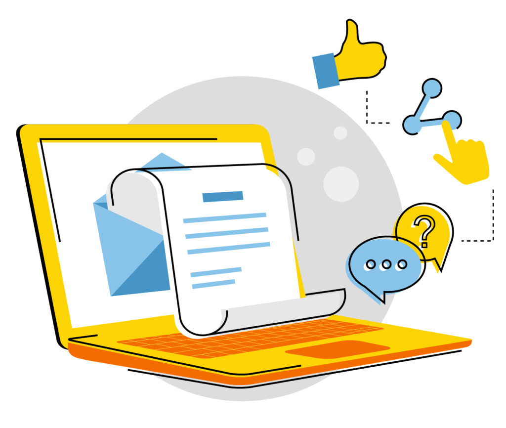 Blog posts generate likes, comments, and shares to help get new paving leads