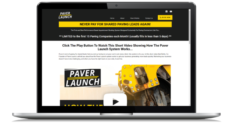 Webinar replay for how to grow a paving company through exclusive lead generation.