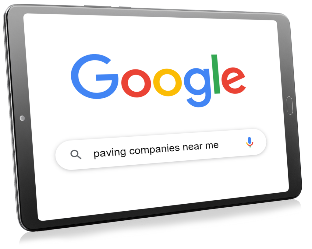 Example of a Google search that Google Ads for pavers should show for