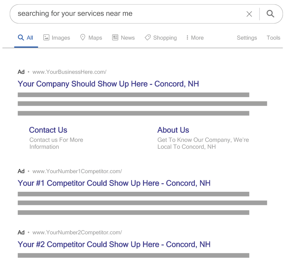 Where Google Ads show up on Google search results
